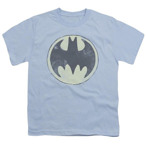Batman Old Time Logo Short Sleeve Youth Light T-Shirt