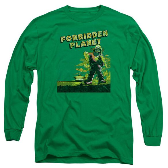 Forbidden Planet Old Poster Long Sleeve Adult Kelly T-Shirt