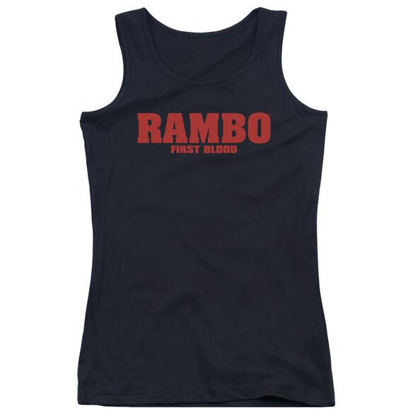 Rambo:First Blood Logo Juniors Tank Top