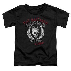Hardluck Kings Rat Bastards Logo Short Sleeve Toddler Tee Black T-Shirt