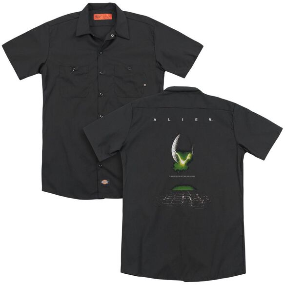 Alien Poster(Back Print) Adult Work Shirt