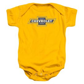 Chevrolet Blue And Gold Vintage Bowtie Infant Snapsuit Gold
