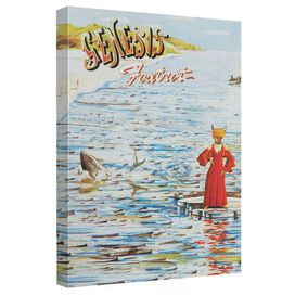 Genesis Foxtrot Cover Canvas Wall Art With Back Board