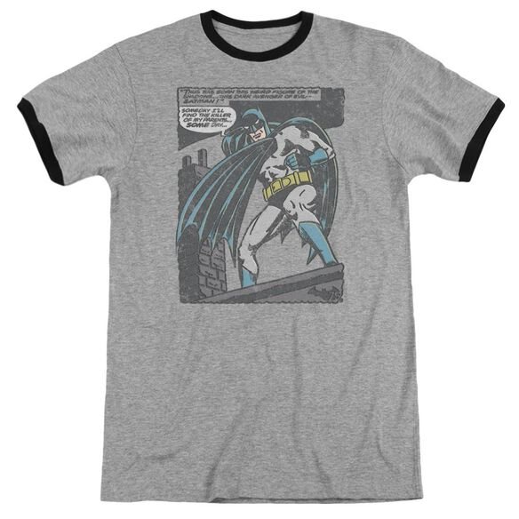 Batman Bat Origins Adult Ringer Heather Black