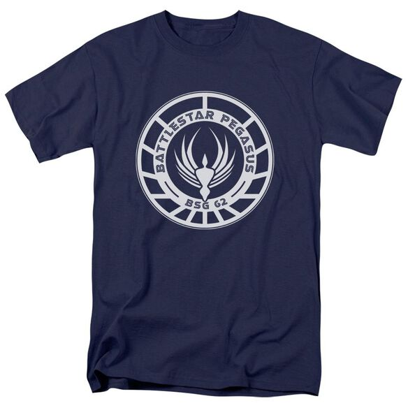 Bsg Pegasus Badge Short Sleeve Adult Navy T-Shirt