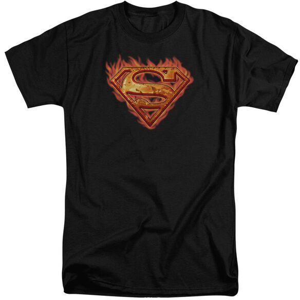 Superman Hot Metal Short Sleeve Adult Tall T-Shirt