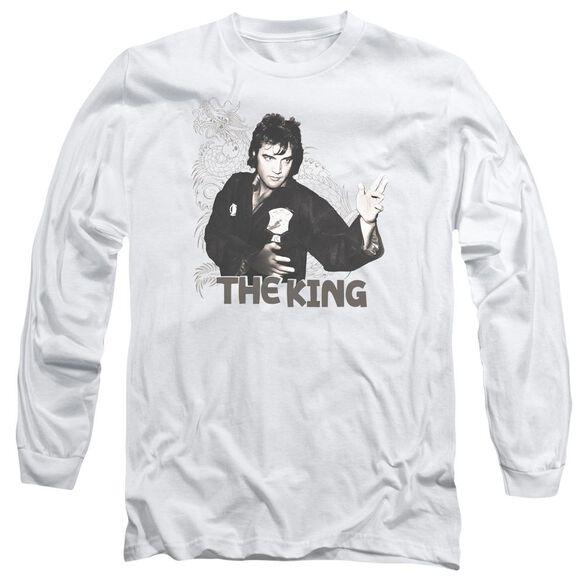 Elvis Presley Fighting King Long Sleeve Adult T-Shirt