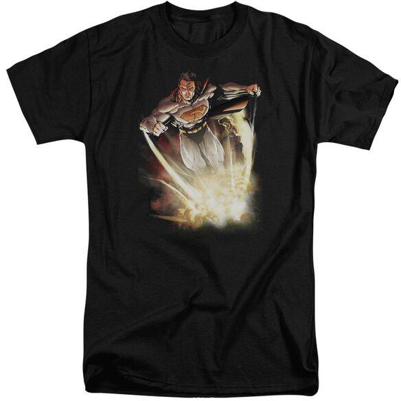 Superman Explosive Short Sleeve Adult Tall T-Shirt