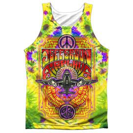 Jefferson Airplane Take Off Adult 100% Poly Tank Top