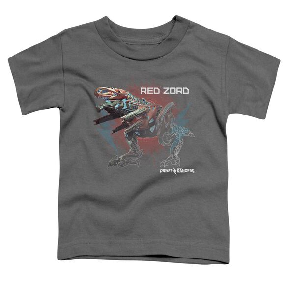 Power Rangers Red Zord Short Sleeve Toddler Tee Charcoal T-Shirt