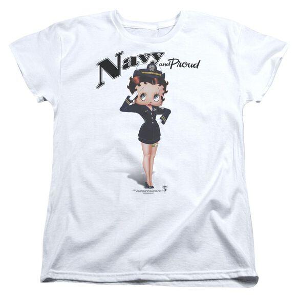 Betty Boop Navy Boop Short Sleeve Womens Tee T-Shirt