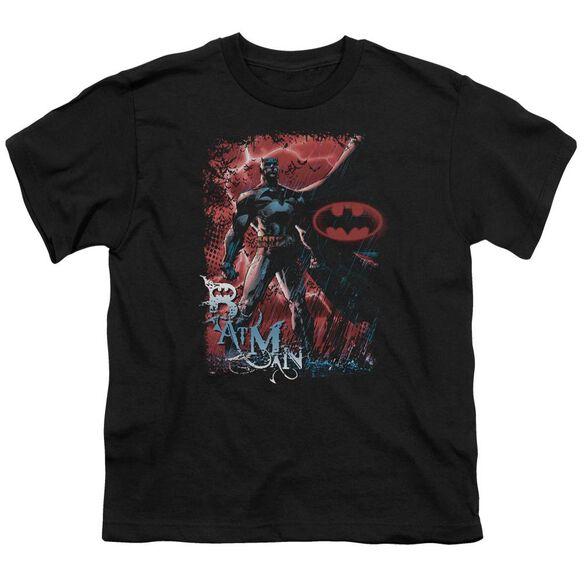 BATMAN GOTHAM REIGN - S/S YOUTH 18/1 - BLACK T-Shirt