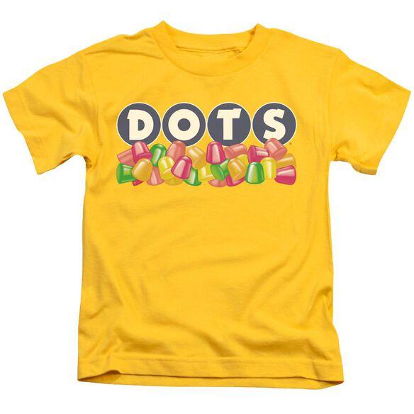 Tootsie Roll Dots Logo Short Sleeve Juvenile Yellow T-Shirt