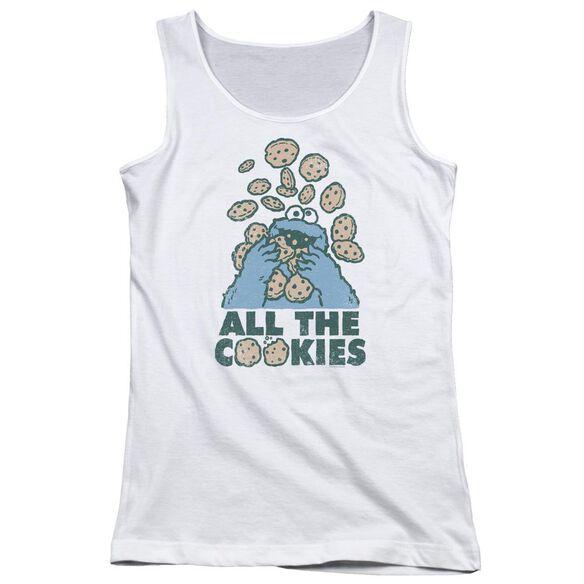 Sesame Street All The Cookies Juniors Tank Top