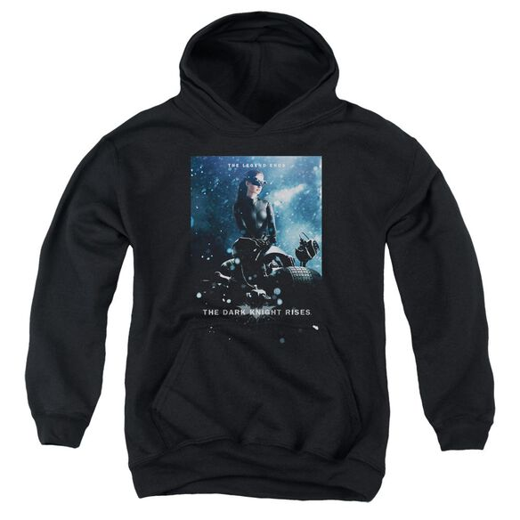 Dark Knight Rises Catwoman Poster Youth Pull Over Hoodie