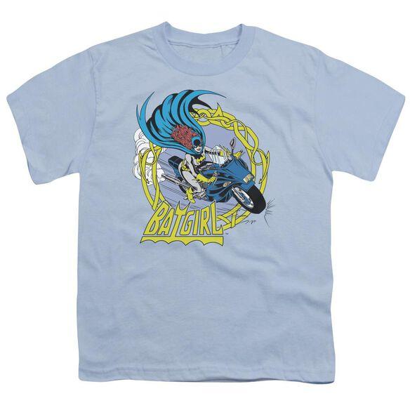 Dc Batgirl Motorcycle Short Sleeve Youth Light T-Shirt