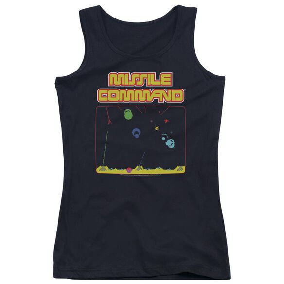 Atari Missle Screen Juniors Tank Top