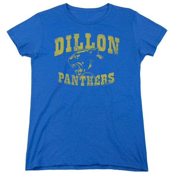 Friday Night Lights Panthers Short Sleeve Womens Tee Royal Blue T-Shirt