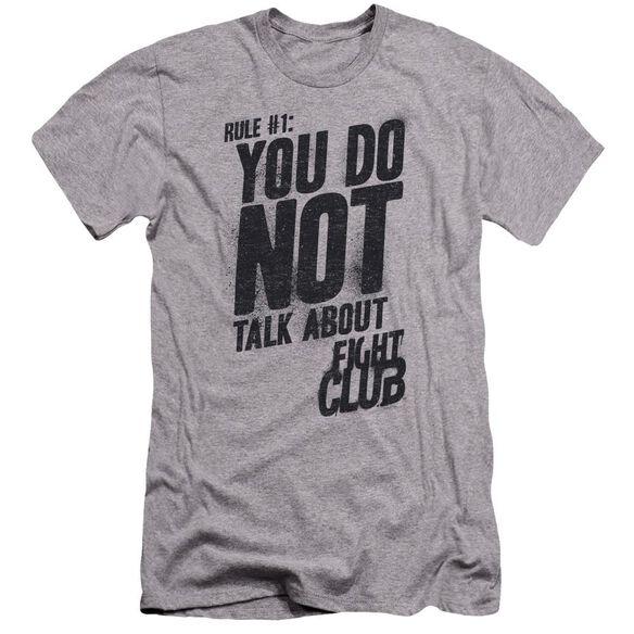 Fight Club Rule 1 Premuim Canvas Adult Slim Fit Athletic