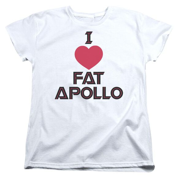 Bsg I Heart Fat Apollo Short Sleeve Womens Tee T-Shirt