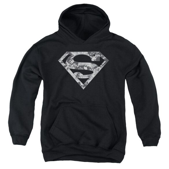 Superman Urban Camo Shield Youth Pull Over Hoodie