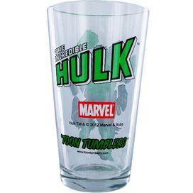 Incredible Hulk Fist Up Pint Glass