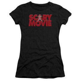 Scary Movie Logo Short Sleeve Junior Sheer T-Shirt