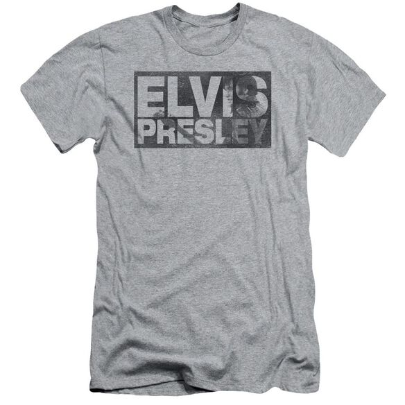 Elvis Block Letters Short Sleeve Adult Athletic T-Shirt
