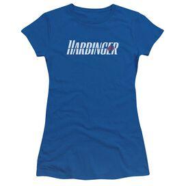 Harbinger Logo Short Sleeve Junior Sheer Royal T-Shirt