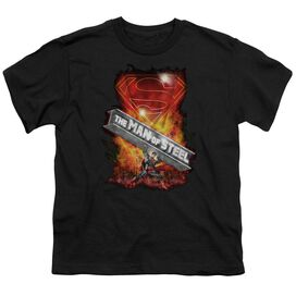 Superman Steel Girder Short Sleeve Youth T-Shirt