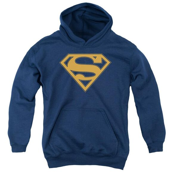Superman & Orange Shield Youth Pull Over Hoodie