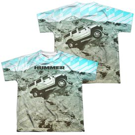 Hummer Trek (Front Back Print) Short Sleeve Youth Poly Crew T-Shirt