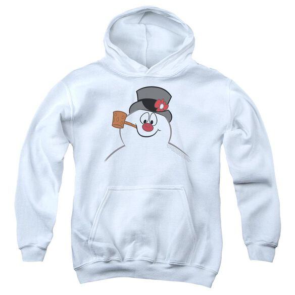Frosty The Snowman Frosty Face Youth Pull Over Hoodie