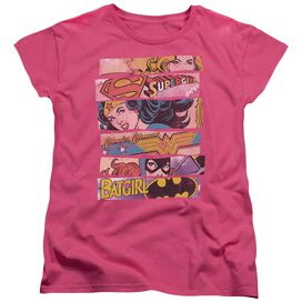 DC THREE OF A KIND - S/S WOMENS TEE - HOT PINK T-Shirt