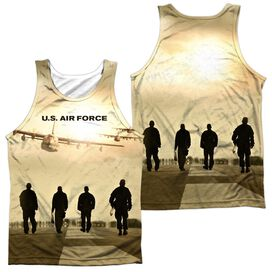 Air Force Long Walk (Front Back Print) Adult 100% Poly Tank Top