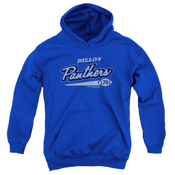 Friday Night Lights Panthers 78 Youth Pull Over Hoodie Royal Royal