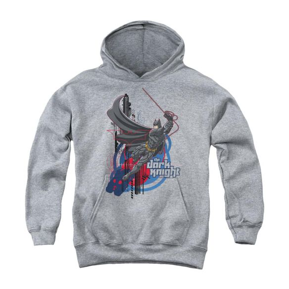 Dark Knight Swinging Dark Knight Youth Pull Over Hoodie