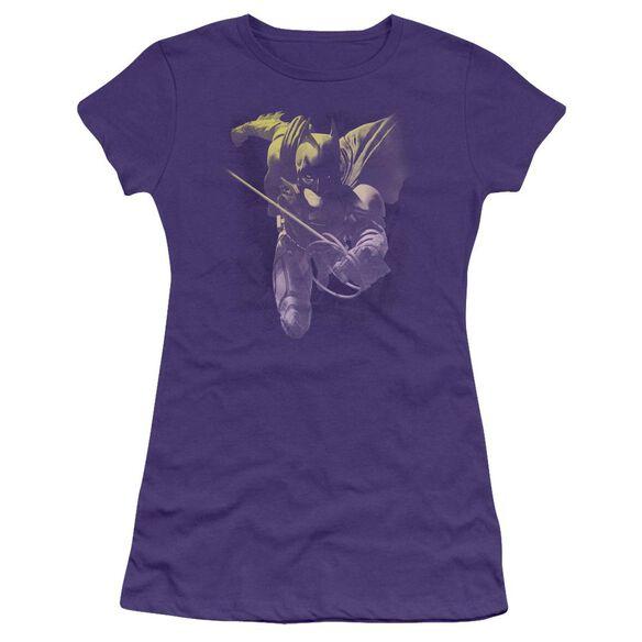 Dark Knight Rises Rope Swing Short Sleeve Junior Sheer T-Shirt