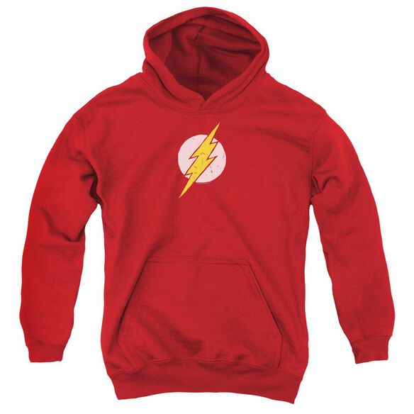 Jla Rough Flash Youth Pull Over Hoodie