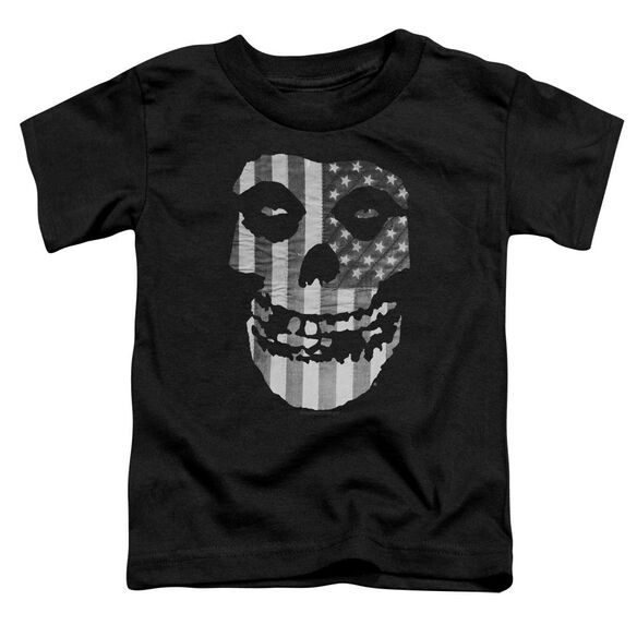 Misfits Fiend Flag Short Sleeve Toddler Tee Black T-Shirt