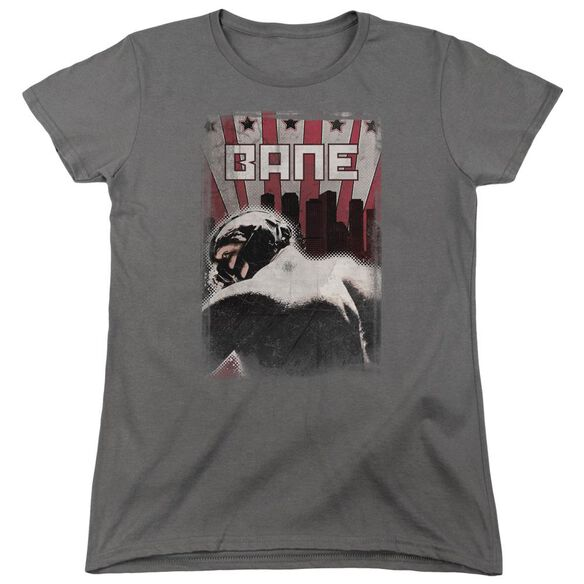 Dark Knight Rises Bane Poster Short Sleeve Womens Tee Charcoal T-Shirt