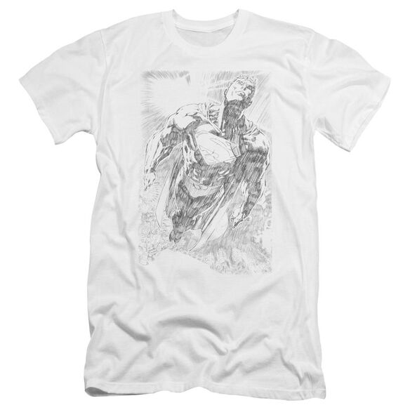 Superman Exploding Space Sketch Premuim Canvas Adult Slim Fit