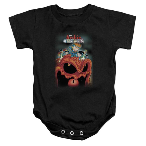 Archie Babies Take That Infant Snapsuit Black Lg