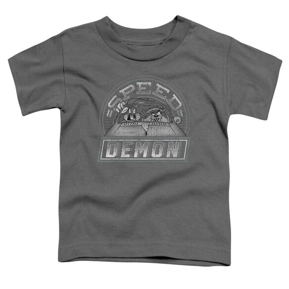 Looney Tunes Speed Demon Short Sleeve Toddler Tee Charcoal T-Shirt