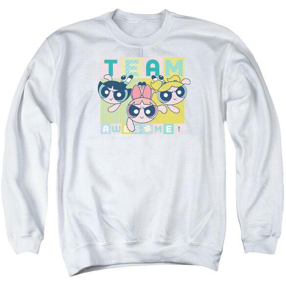 Powerpuff Girls Awesome Block Adult Crewneck Sweatshirt