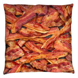 Bacon Collage Throw Pillow