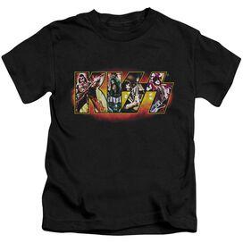 Kiss Stage Logo Short Sleeve Juvenile Black T-Shirt