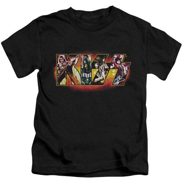Kiss Stage Logo Short Sleeve Juvenile T-Shirt