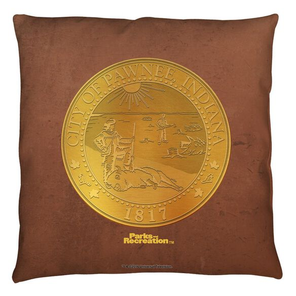 Parks And Rec Pawnee Seal Throw