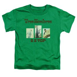 Zz Top Tres Hombres Short Sleeve Toddler Tee Kelly Green T-Shirt